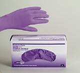 SAFESKIN Purple Nitrile Gloves